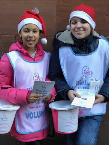 Aw, Grace and Luca - our Christmas bucket collectors