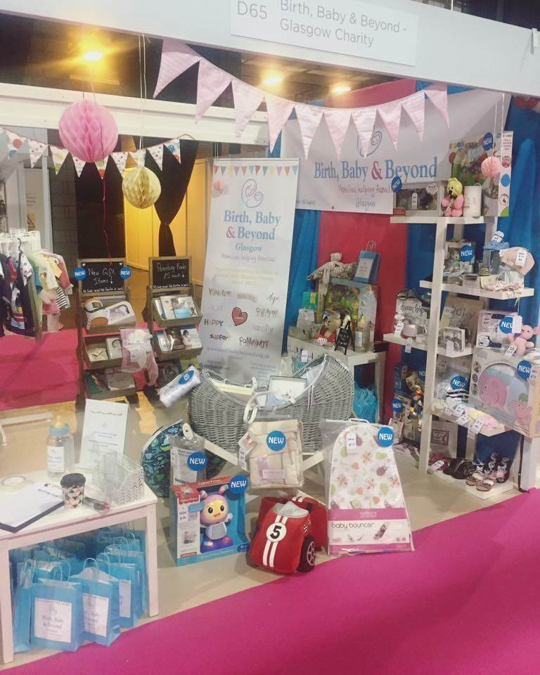 The Birth, Baby & Beyond stall at the Baby & Toddler Show - SEC, Glasgow