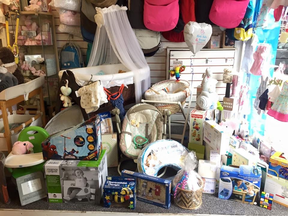 A selection of items in the Birth, Baby and Beyond shop